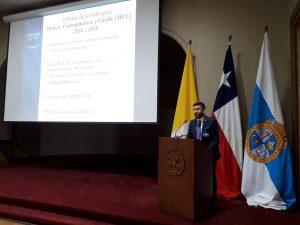 El director ejecutivo de la Oficina de Relaciones Internacionales de la PUCPR, Joel Vélez presentó su informe de logros como secretario ejecutivo de la Subregión.