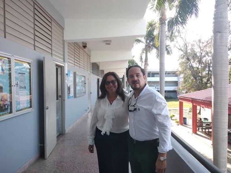 La doctora Ana Fernanda Uribe Rodríguez, vicerrectora académica, profesora e investigadora senior de la Universidad Pontificia Bolivariana, Seccional Bucaramanga de Colombia, y el Dr. Hernán A. Vera Rodríguez, de la PUCPR continúan desarrollando investigaciones en conjunto.